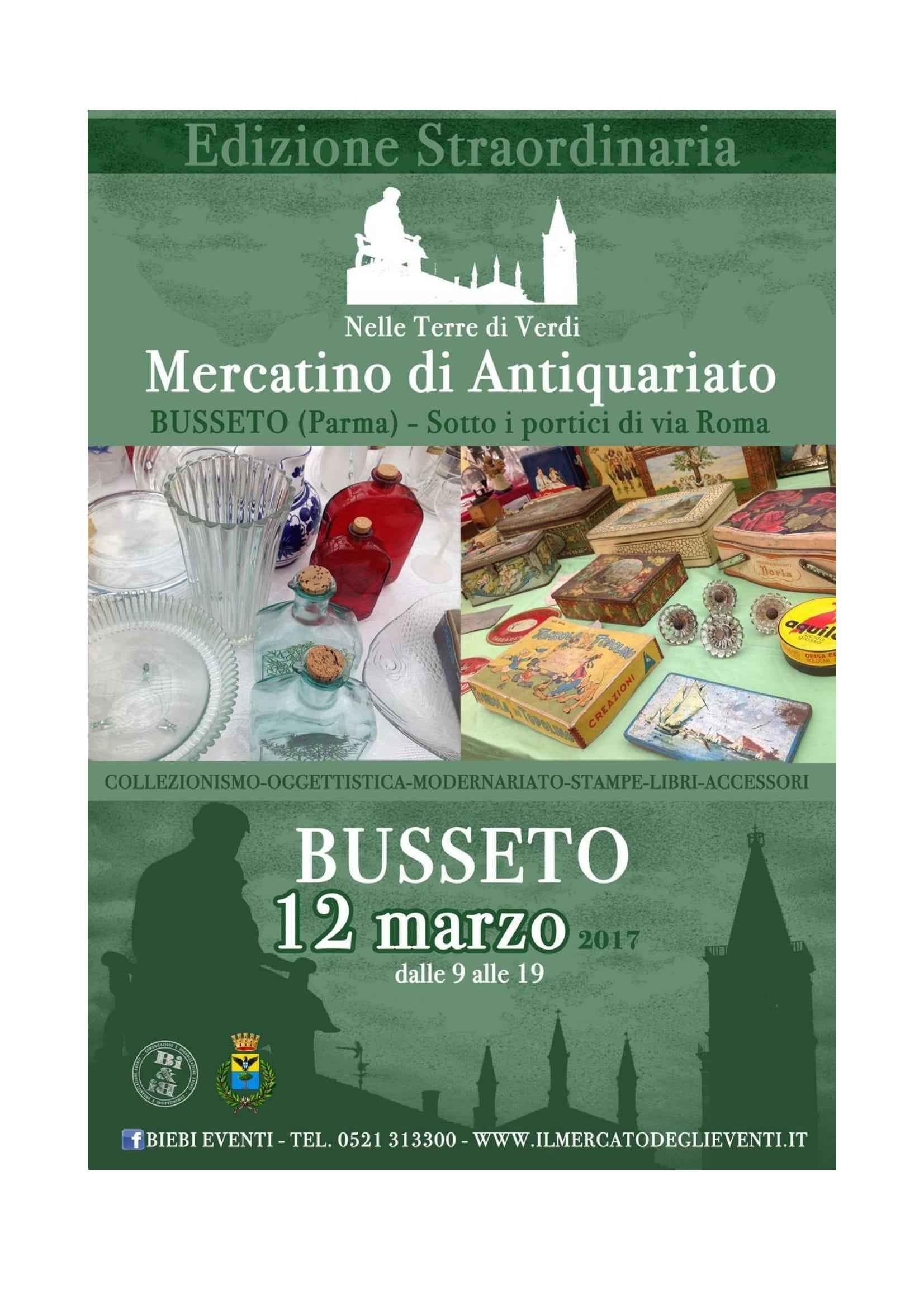 Mercatino di antiquariato busseto live it for Mercatino antiquariato