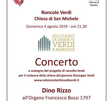 Locandina Concerto Dino Rizzo 4 agosto 2019