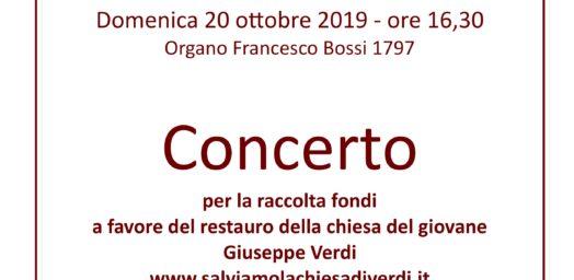 Locandina Concerto 20 ottobre 2019