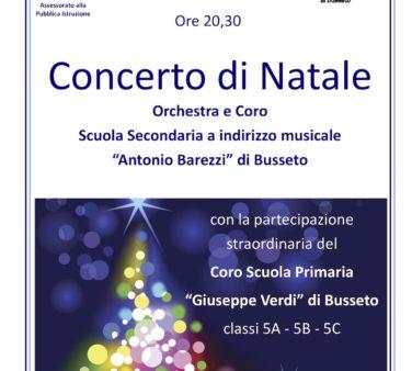 Locandina Concerto di Natale 17 dicembre 2019